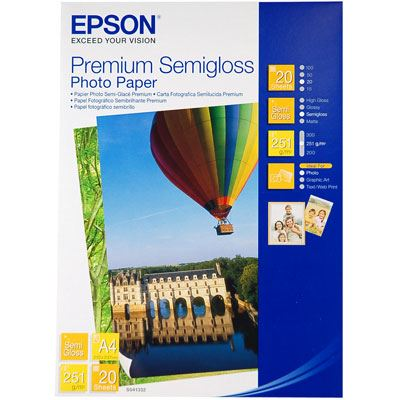 Epson Premium Semi Gloss A4 20 sheets
