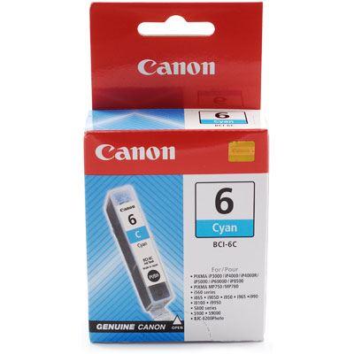 Image of Canon BCI6C Cyan Ink Cartridge