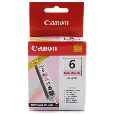Image of Canon BCI6PM Photo Magenta Ink Cartridge