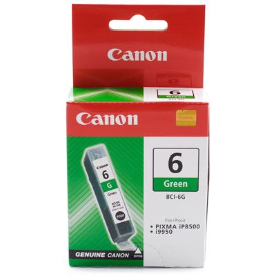 Image of Canon BCI6G Green Ink Cartridge