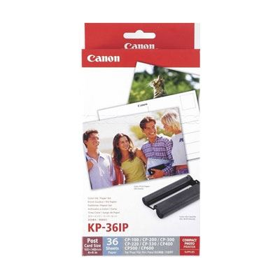 Image of Canon KP-36IP Ink/Paper for Selphy Series Printers - 36x 4 x 6 Postcard Size