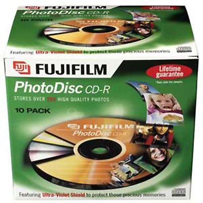 Image of Fujifilm CD-R Photodisc - 52x Speed - 10 Discs