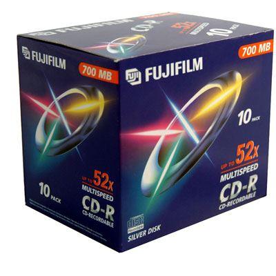 Image of Fuji CD-R 700MB with Jewel Case - 52x Speed - 10 Discs