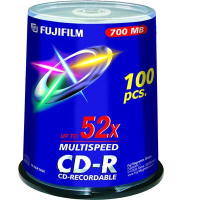 Image of Fujifilm CD-R 700MB - 52x Speed - 100 Discs