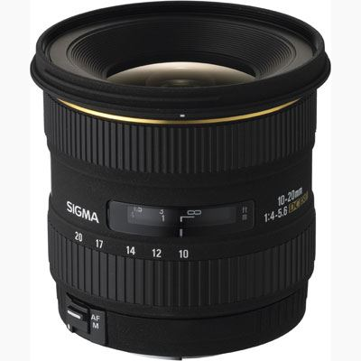 Sigma 10-20mm f4-5.6 EX DC HSM Lens - Canon Fit