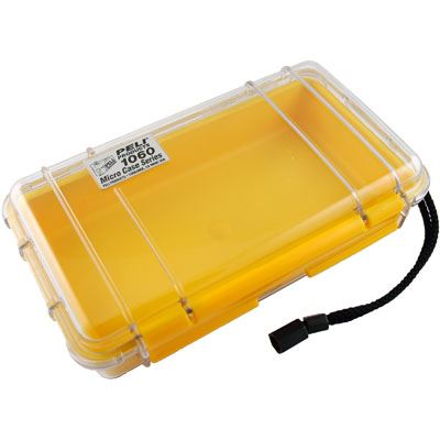 Peli 1060 Microcase Clear with Yellow Liner