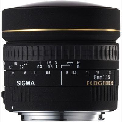 Sigma 8mm f3.5 EX DG Fisheye Lens  Canon Fit