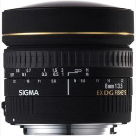 Used Sigma 8mm f3.5 EX DG Fisheye Lens - Canon Fit