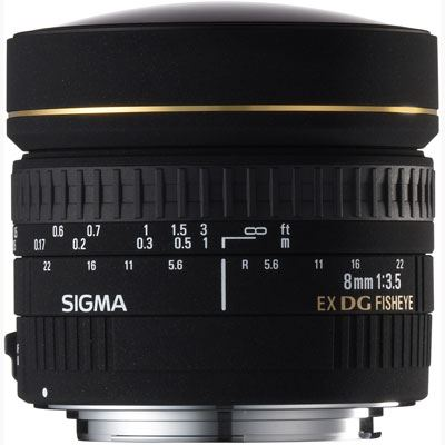 Sigma 8mm f3.5 EX DG Fisheye Lens - Canon Fit