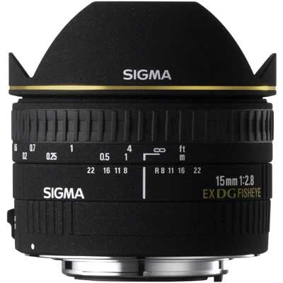 Sigma 15mm f2.8 EX DG Fisheye Lens - Canon Fit