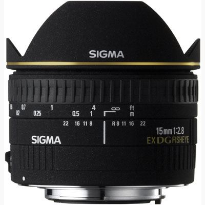 Sigma 15mm f2.8 EX DG Fisheye Lens  Pentax Fit