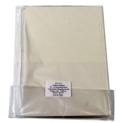 Secol Acid Free A4 Mount Board (Ivory) x50