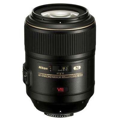 Nikon 105mm f2.8 G AF-S VR IF ED Micro Nikkor Lens