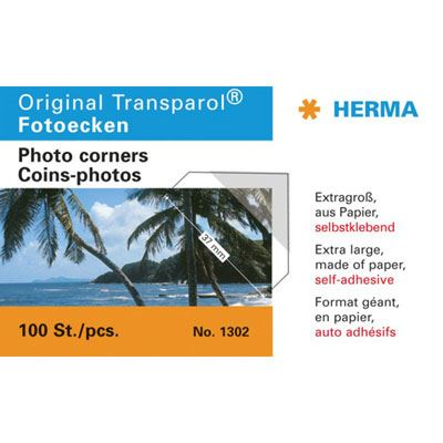 Image of Herma Extra-Large Self-adhesive Photo Corners, pack of 100