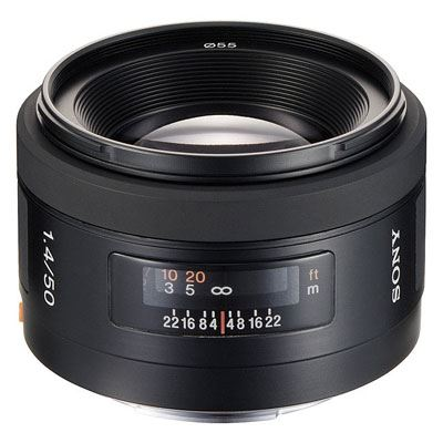 Sony A Mount 50mm f1.4 Lens