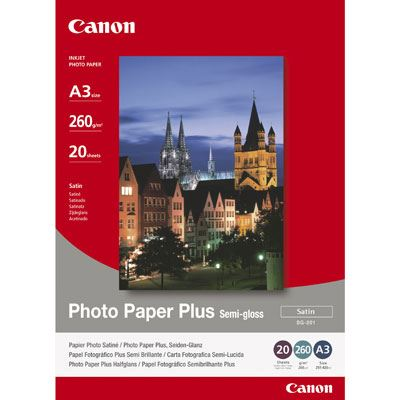 Canon SG201 SemiGloss Paper A3 20 sheets