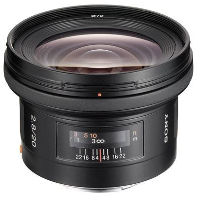 Sony A Mount 20mm F2.8 Lens