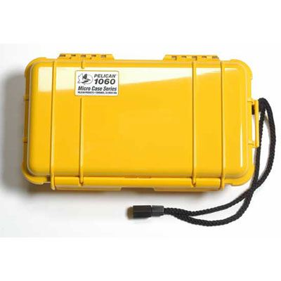 Peli 1060 Microcase Yellow with Black Liner