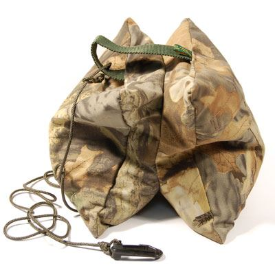 Wildlife Watching Small Double Bean Bag with Filled Liner and Cord