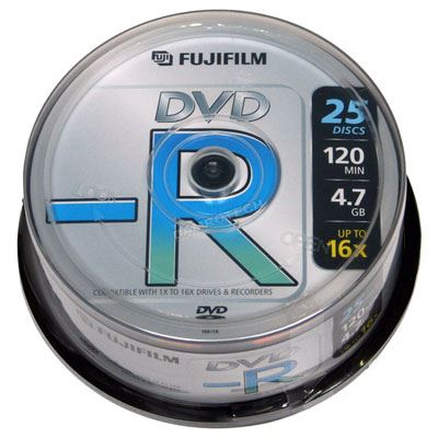 Image of Fujifilm DVD-R 4.7GB - 16x Speed - 25 Discs