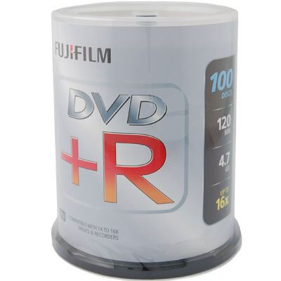 Image of Fujifilm DVD+R 4.7GB - 16x Speed - 100 Discs