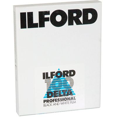 Ilford Delta 100 Professional 5x4 inch Sheet Film (25 sheets)