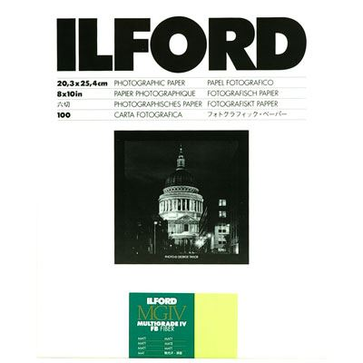 Ilford MGFB5K 8x10 inch 100 sheets