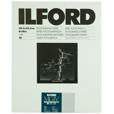 Ilford MG4RC44M 20.3x25.4cm 50 Deluxe Wet Paper - 50 sheets