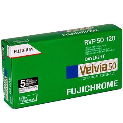 Fujifilm Velvia 50 120 pack of 5