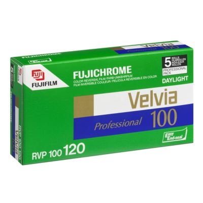 Fujifilm Velvia 100 120 pack of 5