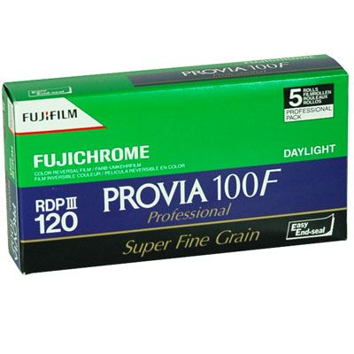 Image of Fujifilm Provia 100F 120 pack of 5
