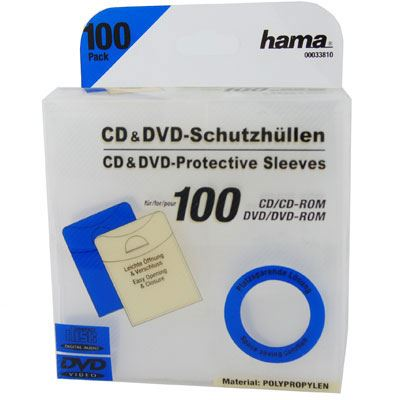 Image of Hama Acetate CD Sleeves - Pack of 100
