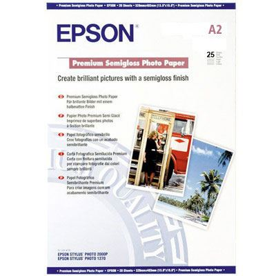 Epson Premium Semigloss Photo Paper A2 25 sheets