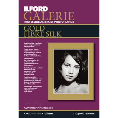 Ilford Galerie Prestige Gold Fibre Silk A3+ 25 sheets 310gsm