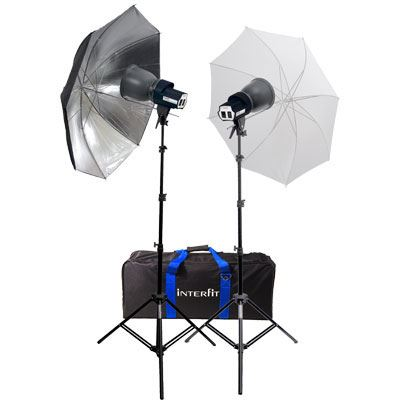 Interfit SXT3200 Twin Head Twin Umbrella Kit
