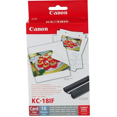 Image of Canon KC18IF Selphy Ink + Paper Kit