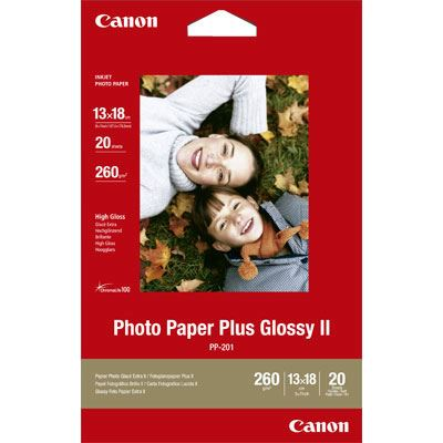 Canon PP201 Photo Paper Glossy II 5x7 20 Sheets