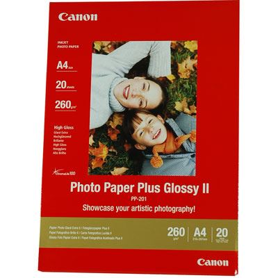 Canon PP201 Photo Paper Glossy II A4 20 Sheets