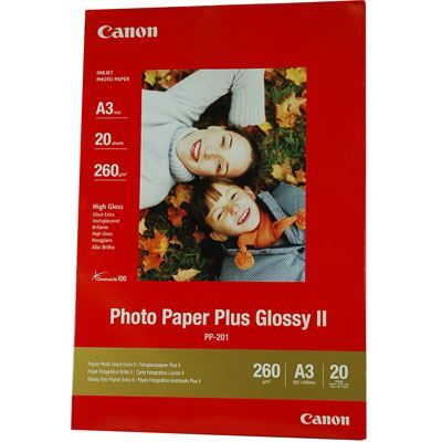 Canon PP201 Photo Paper Glossy II A3 20 Sheets