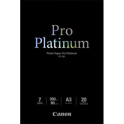 Canon PT101 Pro Platinum A3 Paper - 20 Sheets