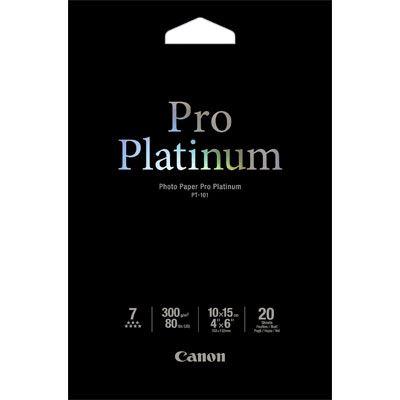 Canon PT101 Pro Platinum 6x4 Paper - 20 Sheets