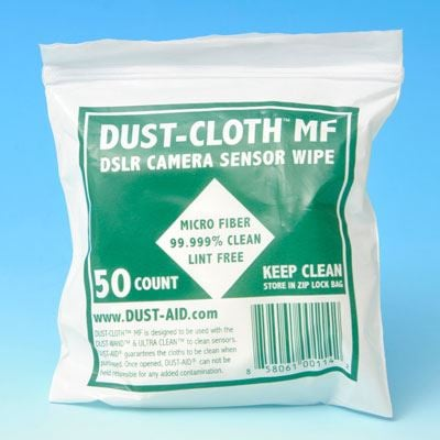 Image of Dust-Aid Dust Cloth Microfibre Cleaning Wipes (Pack of 50) - 8 x 8cm