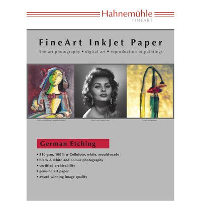 Hahnemuhle German Etching  310gsm A3+ 25 Sheets