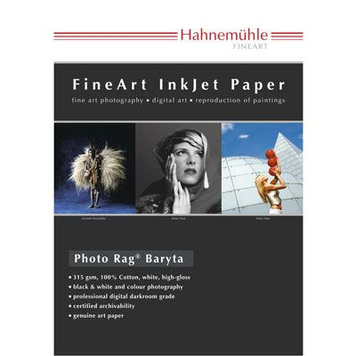 Hahnemuhle Photo Rag Baryta 315gsm 44inch Roll 12m