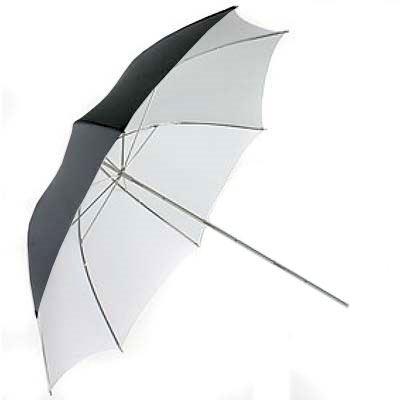 Interfit 109cm Black/White Umbrella - 7mm Shaft