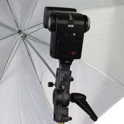 Interfit Strobies Umbrella Holder with Hotshoe Adapter