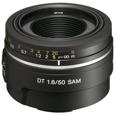 Sony A Mount 50mm f1.8 DT SAM Lens