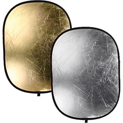 Image of Bowens Oval Gold/Silver Reflector Disc