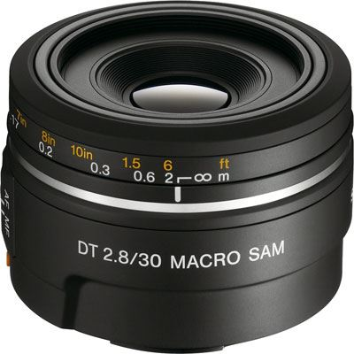 Sony A Mount 30mm f2.8 SAM DT Macro Lens