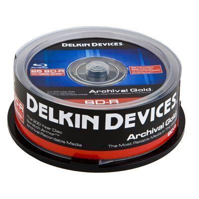 Image of Delkin DVD-R Inkjet Archival Gold - 25 Discs